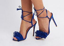 Fringed Blue Sandal