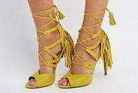 Fringed Lace Up Sandal'